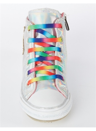Denokids Unicorn Hologramlı Kız Sneakers Renkli